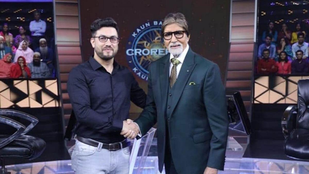 Kashmiri actor Rayees Mohiuddin with Amitabh Bachchan.