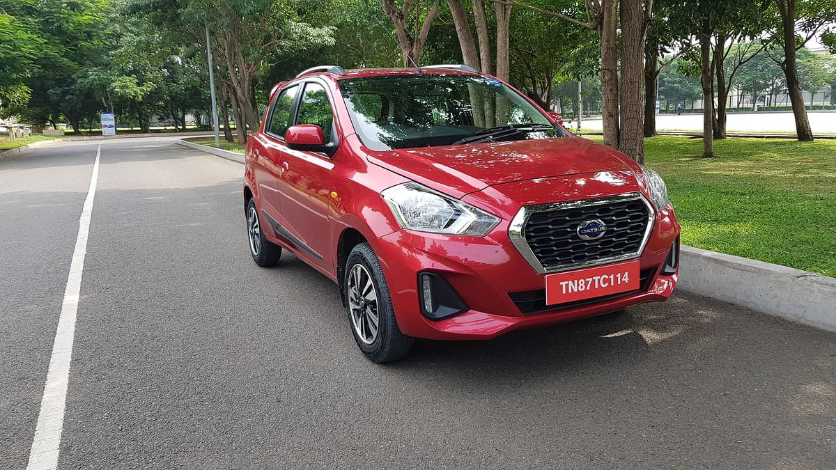 The Datsun Go T(O) variant features alloys and daytime running lamps.