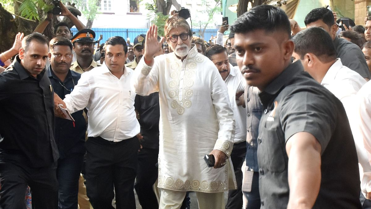 Here's How Amitabh Bachchan Celebrated His 77th Birthday: Pics
