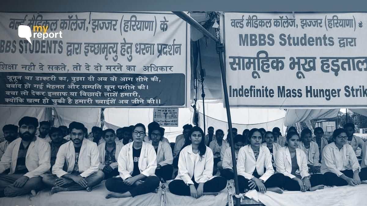 Jhajjar Medical Students On Strike Since Sept, Haryana Govt Aloof