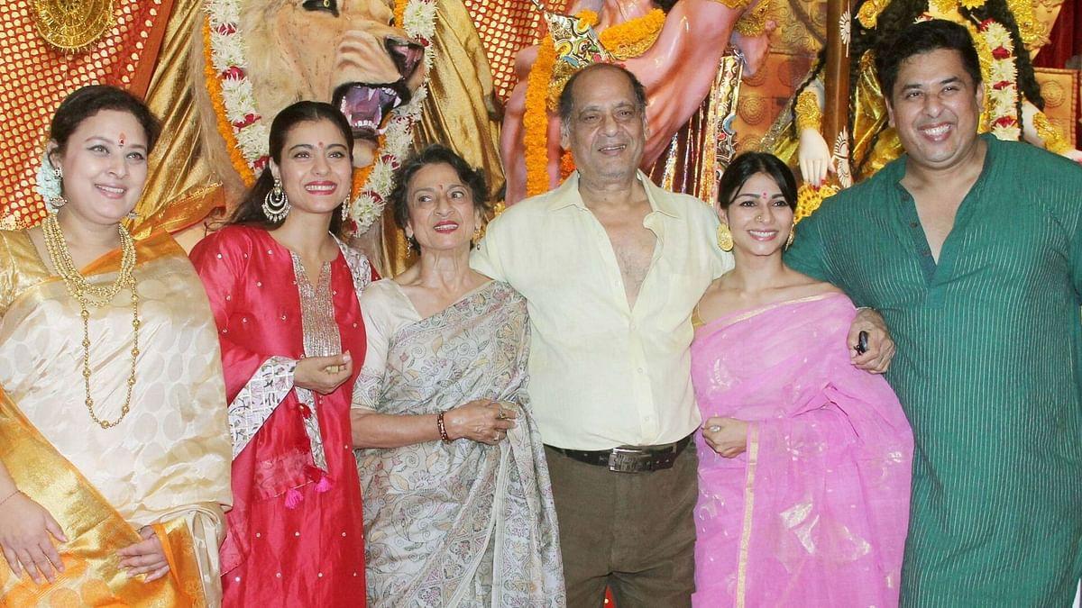 Pics: Kajol Goes Durga Puja Pandal Hopping With Tanuja & Tanishaa