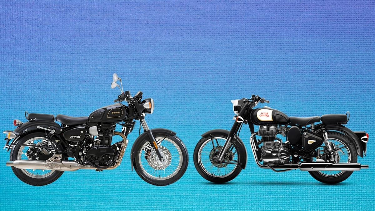 Benelli Imperiale 400 (left) vs Royal Enfield Classic 350 (right)