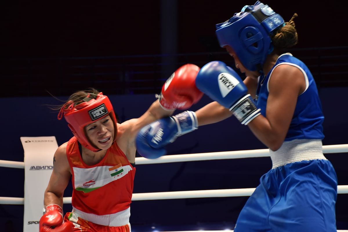 Mary Kom used all her experience to great advantage and started off slowly against the Rio Olympic bronze medallist.
