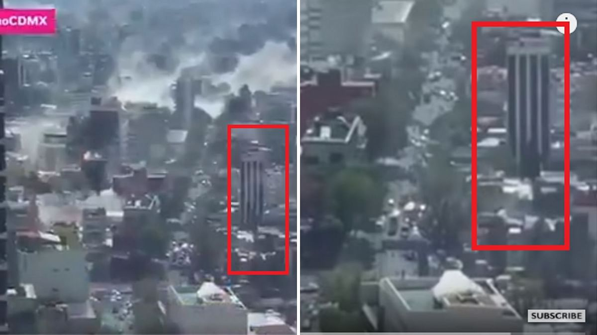 The image on the left shows the viral visuals while the one on the rights shows the visuals uploaded by BBC News on YouTube.
