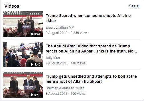 'Allah hu Akbar' Chant at Trump Rally? No, Audio of Clip is Edited