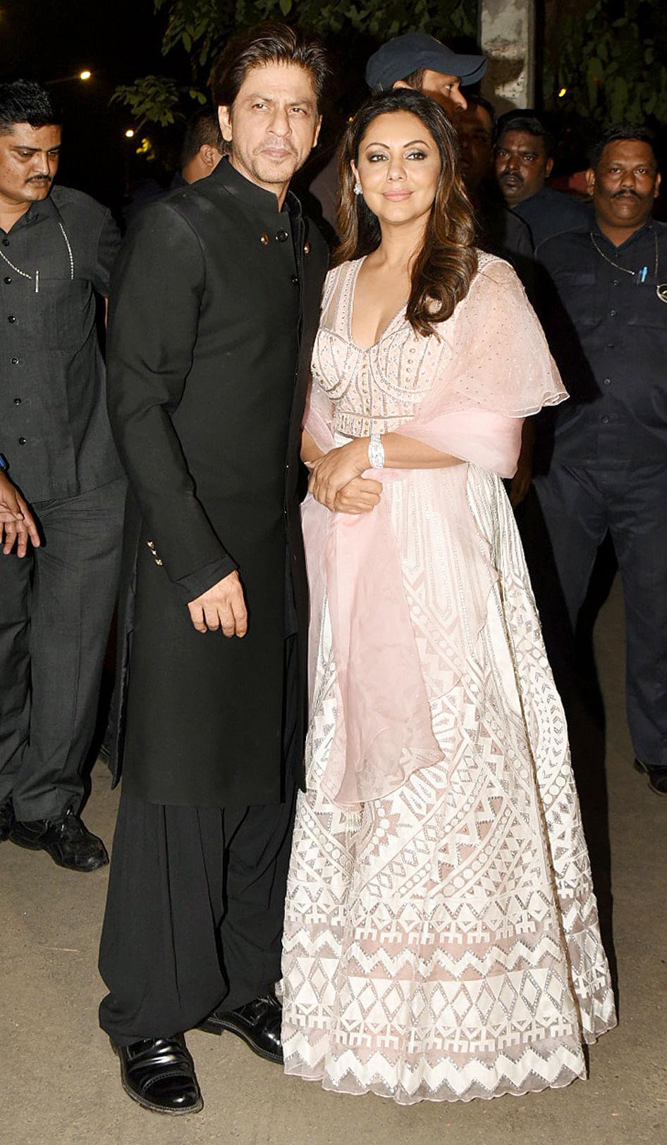 Shah Rukh Khan and Gauri Khan.