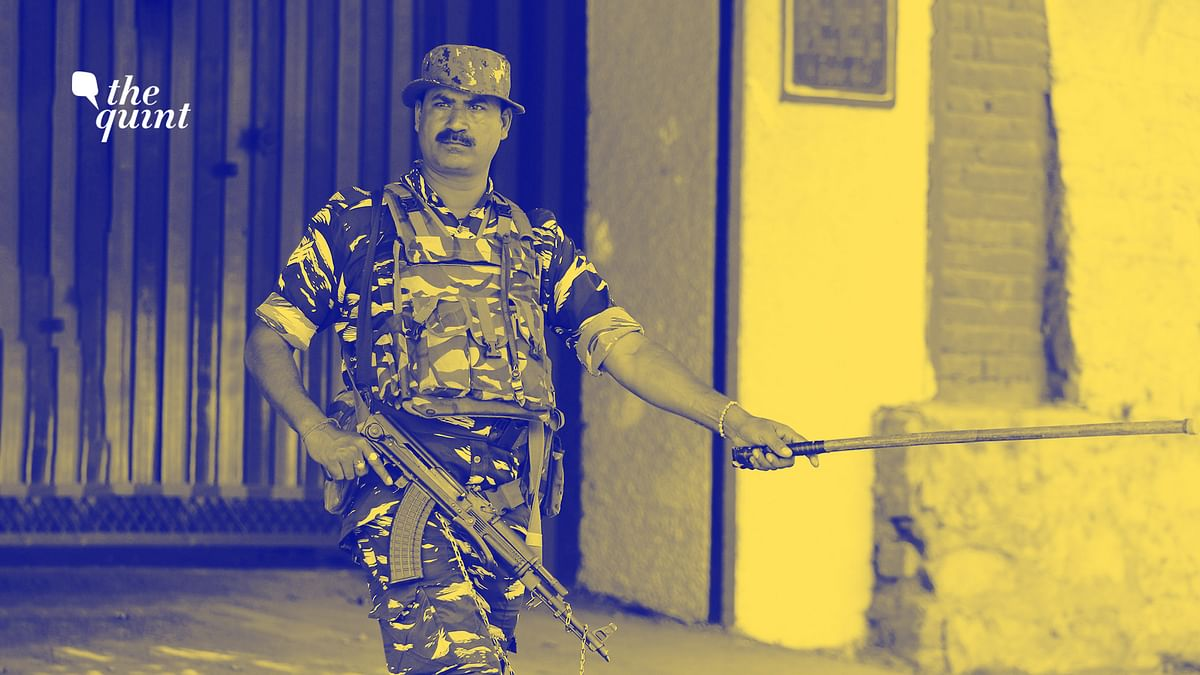 Image of an Indian paramilitary soldier in Kashmir used for representational purposes.