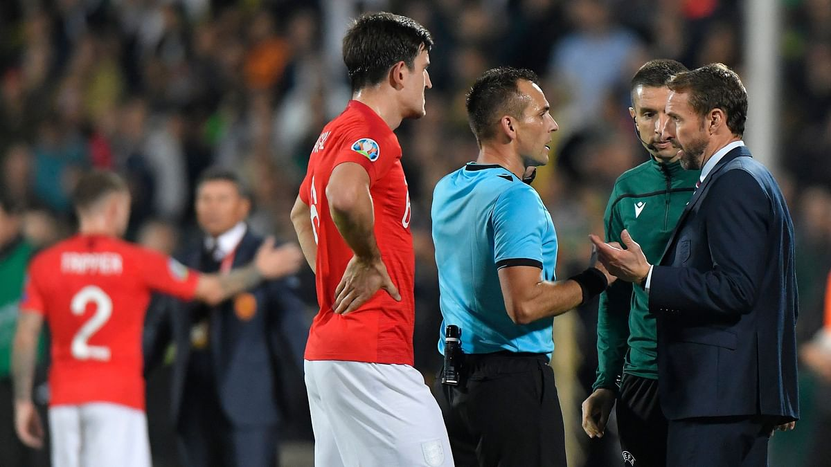 Monday's game between was halted twice during the first half due to the abuse but England players decided to complete the match instead of walking off the pitch.