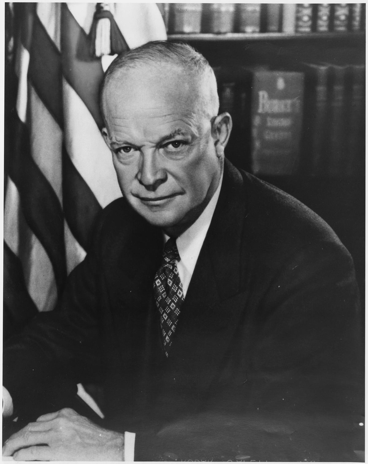 Dwight D Eisenhower, 34th President of the United States.
