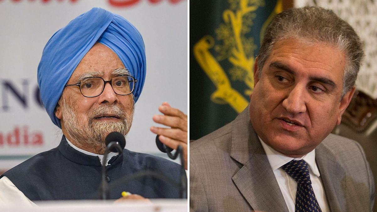 Manmohan Singh and Shah Mahmood Qureshi.