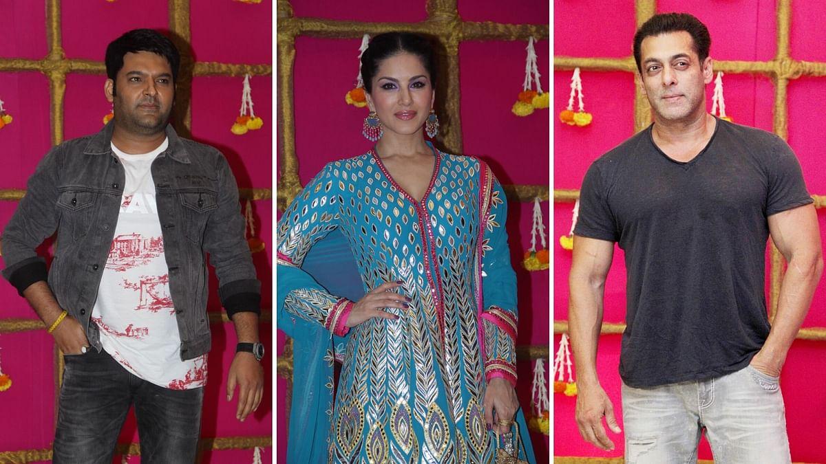 Pics: Salman, Kapil Sharma, Sunny Leone Celebrate Diwali Together