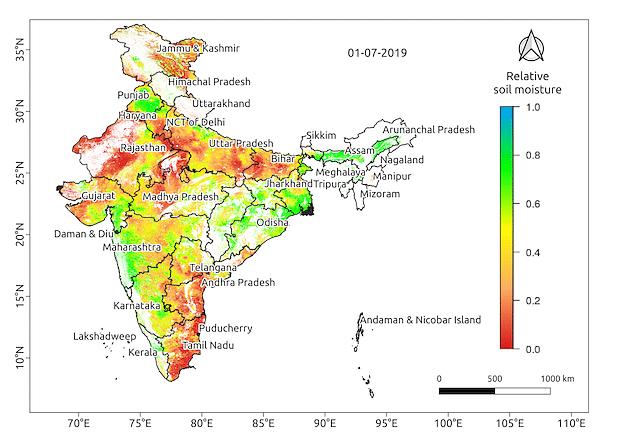 Soil moisture in July 2019.