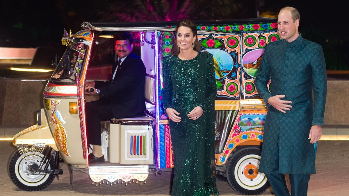 A Rickshaw Ride for Kate Middleton and Prince William in Pakistan