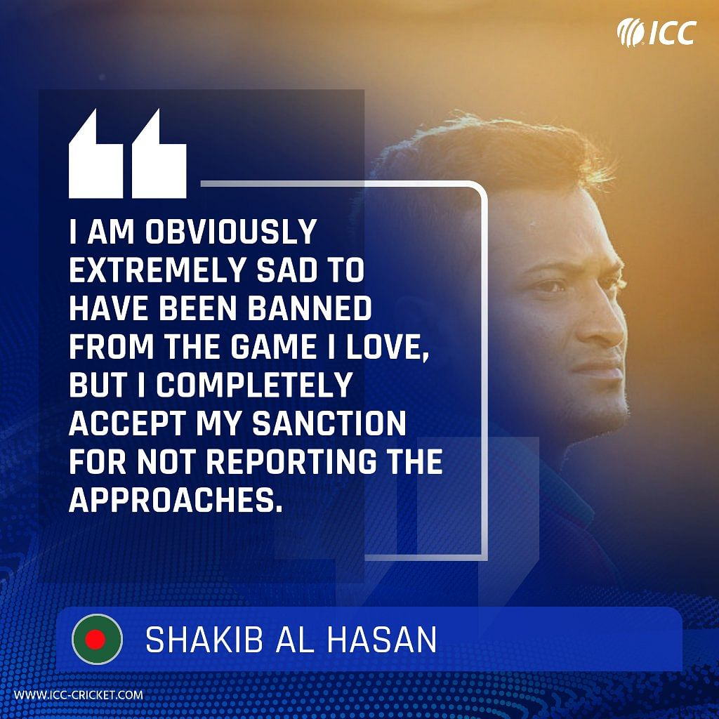 Cricketing Fraternity Critical of Shakib But Fans Call Ban 'Harsh'