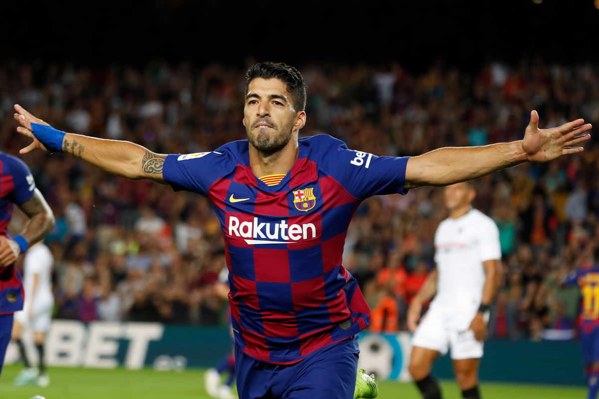 Luis Suárez put Barcelona on the winning path for a second time this week after netting with a bicycle kick in the 27th.