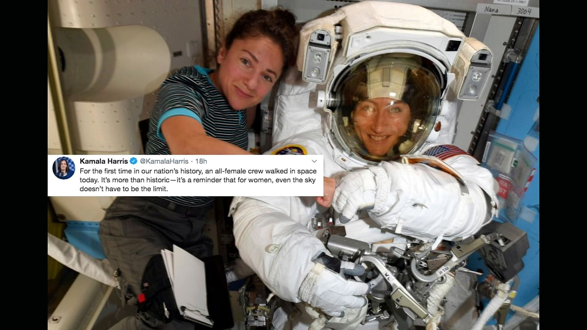 Netizens Laud Koch, Meir As They Complete 1st All Women Spacewalk