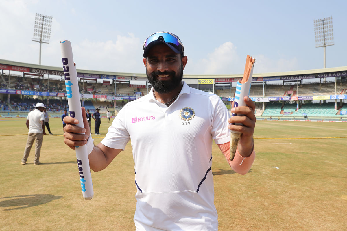 Shami picked up his fifth five wicket haul in Tests as India comfortably beat South Africa by 203 runs.