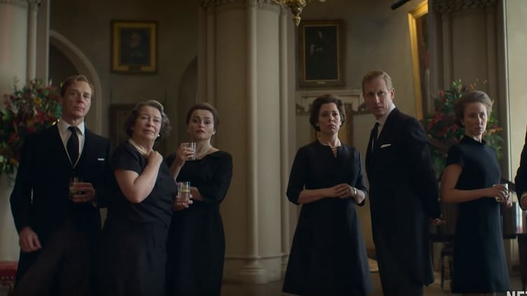 A still from <i>The Crown </i>Season 3 trailer.