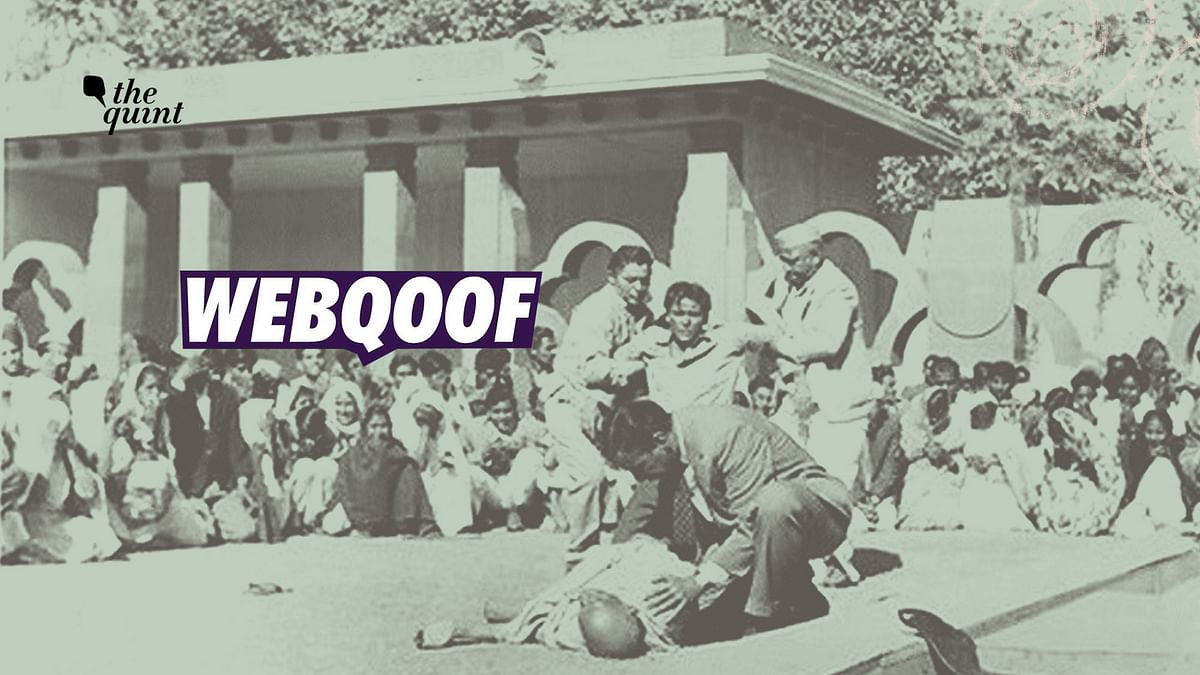 Image Claiming to Depict Gandhi's Assassination is from 1963 Film