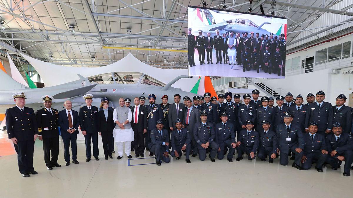Rajnath Singh Receives 1st Rafale Jet, Calls It 'Historic Day'