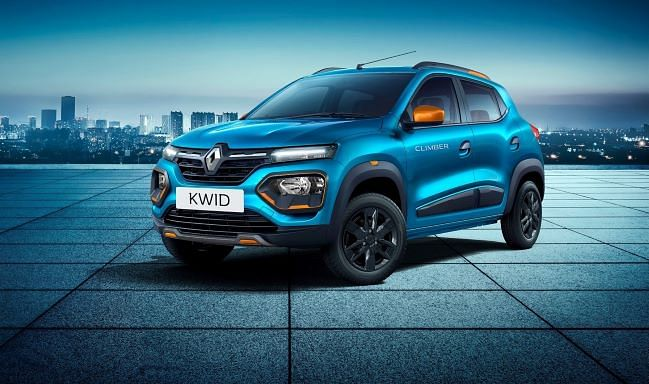 Renault has added daytime running lamps to the Kwid and moved the headlamps into the bumper in SUV-inspired styling.