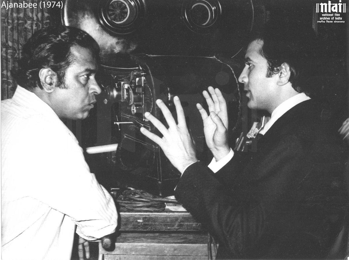Rajesh Khanna with filmmaker Shakti Samanta.