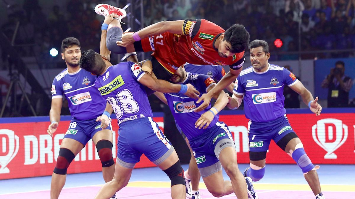 Pawan Sehrawat scored a record-shattering 39 points in the game.