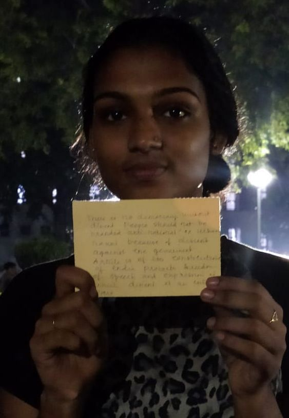 DU students took to writing postcards against sedition charges filed by Muzaffarpur police.