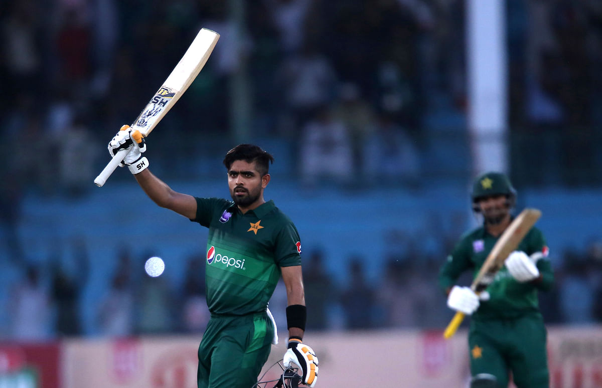 Babar Azam became the fastest Pakistani batsman to complete 1,000 ODI runs in a calendar year in 19 matches.
