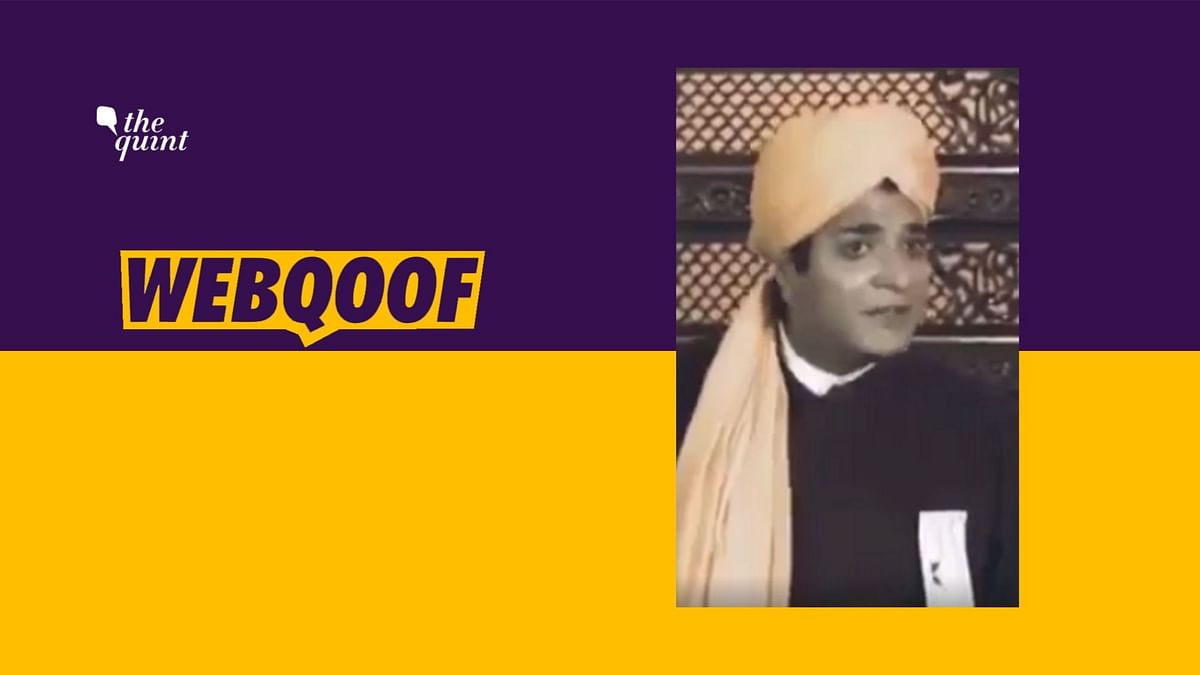 Video Clip From a Film Shared as   Vivekananda's Speech in Chicago