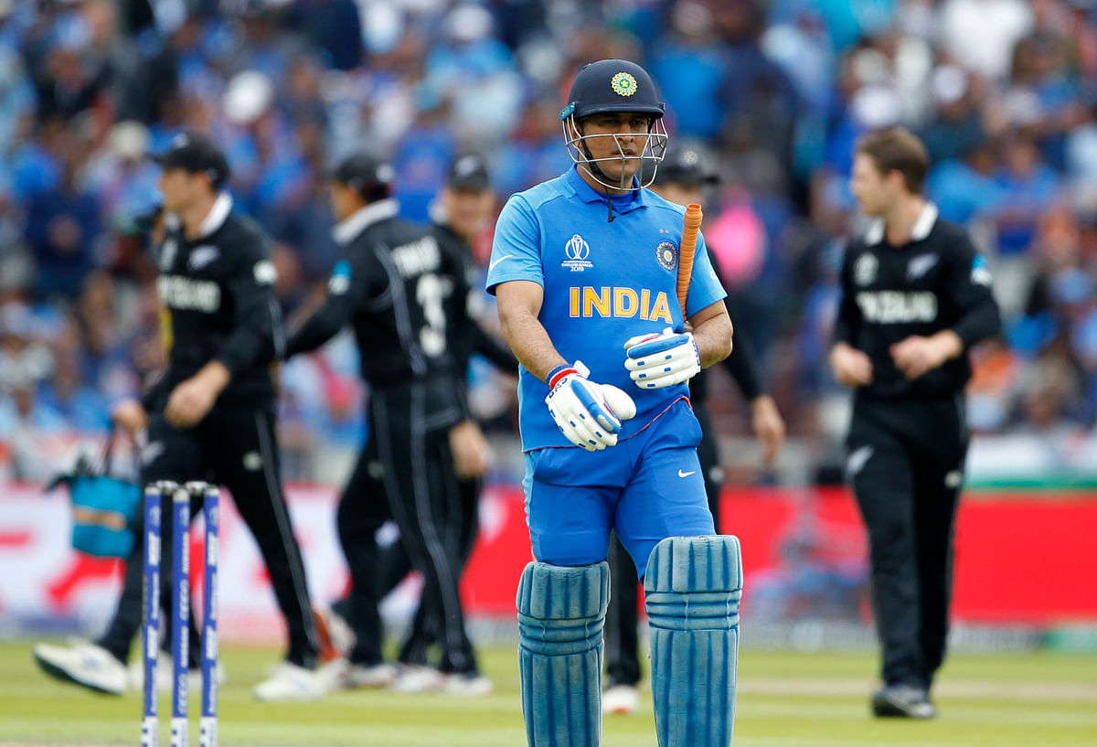 MS Dhoni's last international appearance was India's World Cup semi-final match against New Zealand.