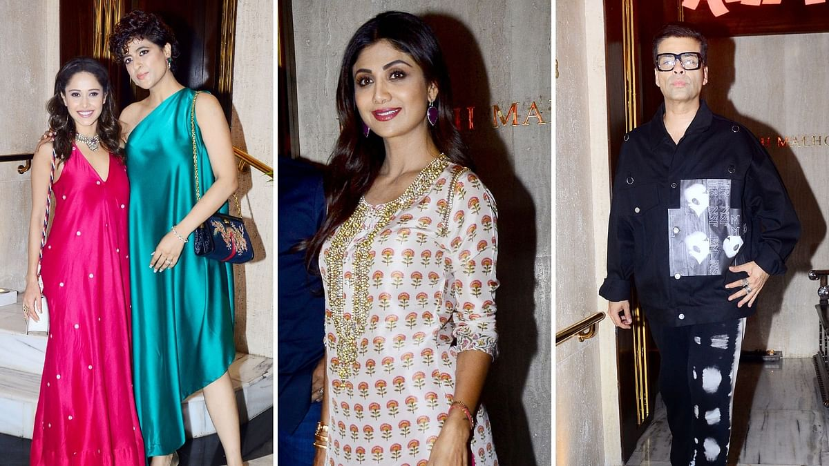 Nushrat, Tahira, KJo Ring in Diwali at Manish Malhotra's House