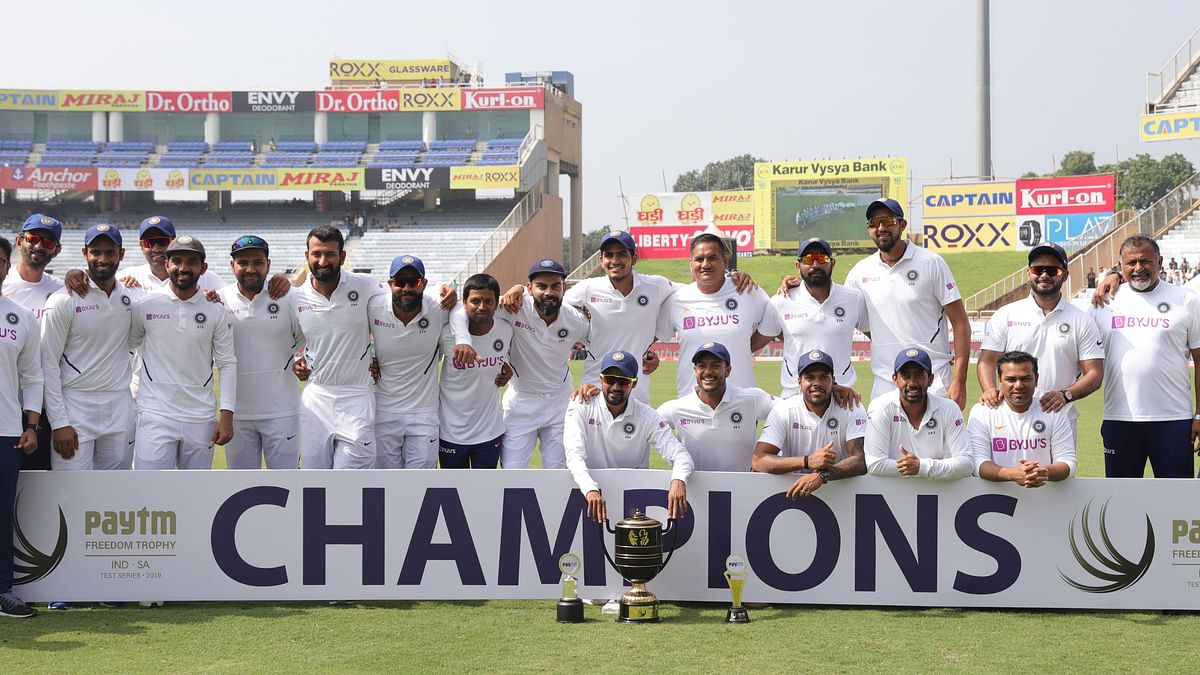 India are series champions on day four of the third test match between India and South Africa held at the JSCA International Stadium Complex, Ranchi India on the 22 October 2019