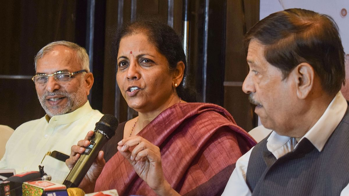 Union Finance Minister Nirmala Sitharaman addresses a press conference. Image for representational purposes.