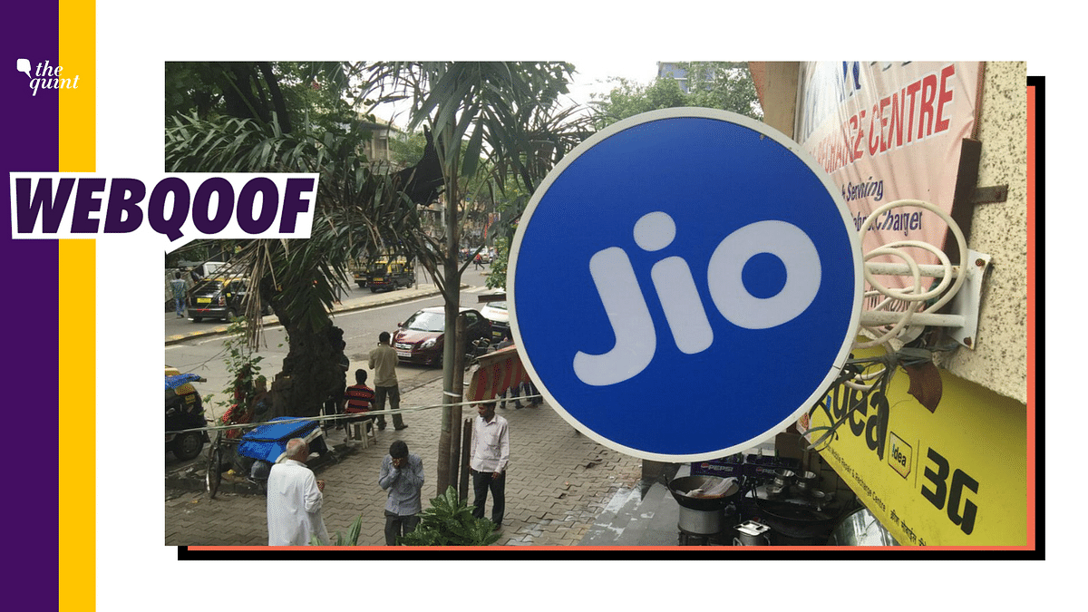 Free Reliance Jio Recharge Worth Rs 498? It's a Fake Viral Message