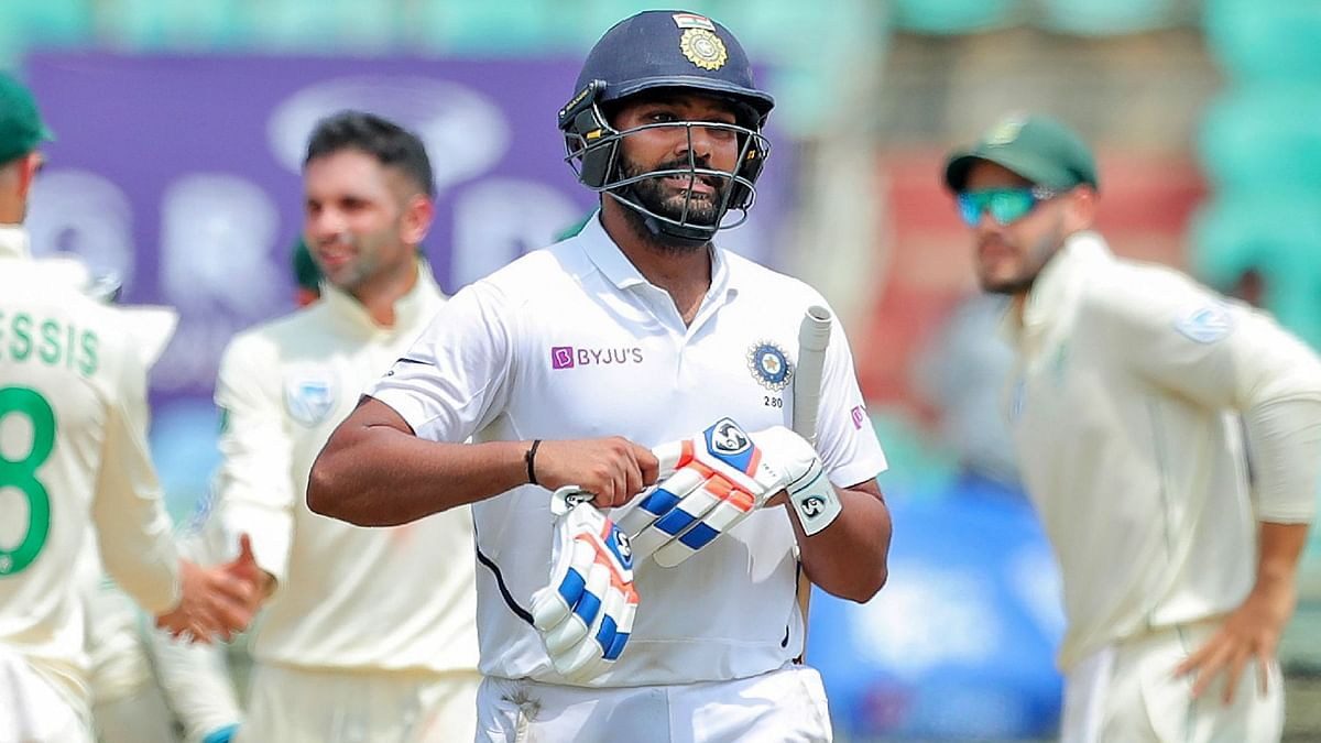 Rohit Sharma, who hit 23 fours and half a dozen sixes, was eventually dismissed in the 83rd over.