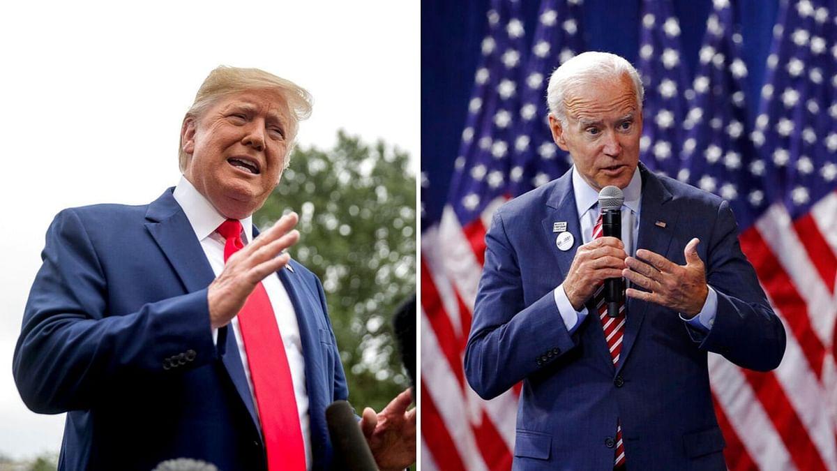 US President Donald Trump and Former Vice President Joe Biden.