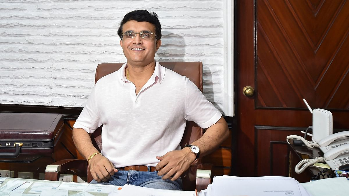 Former India captain Sourav Ganguly after taking charge at BCCI.