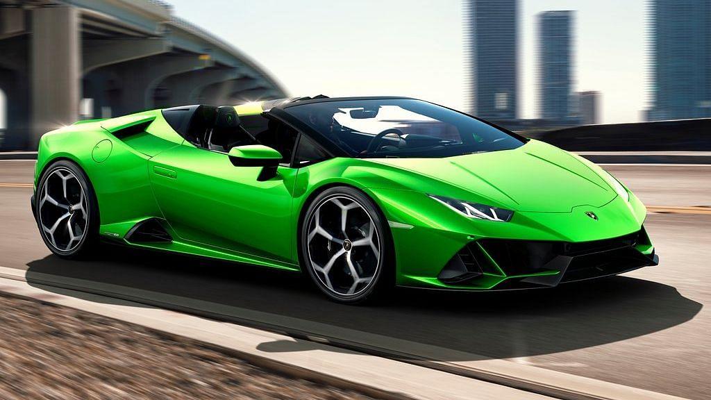 The Lamborghini Huracan Evo Spyder comes with a 5.2-litre V10 engine.