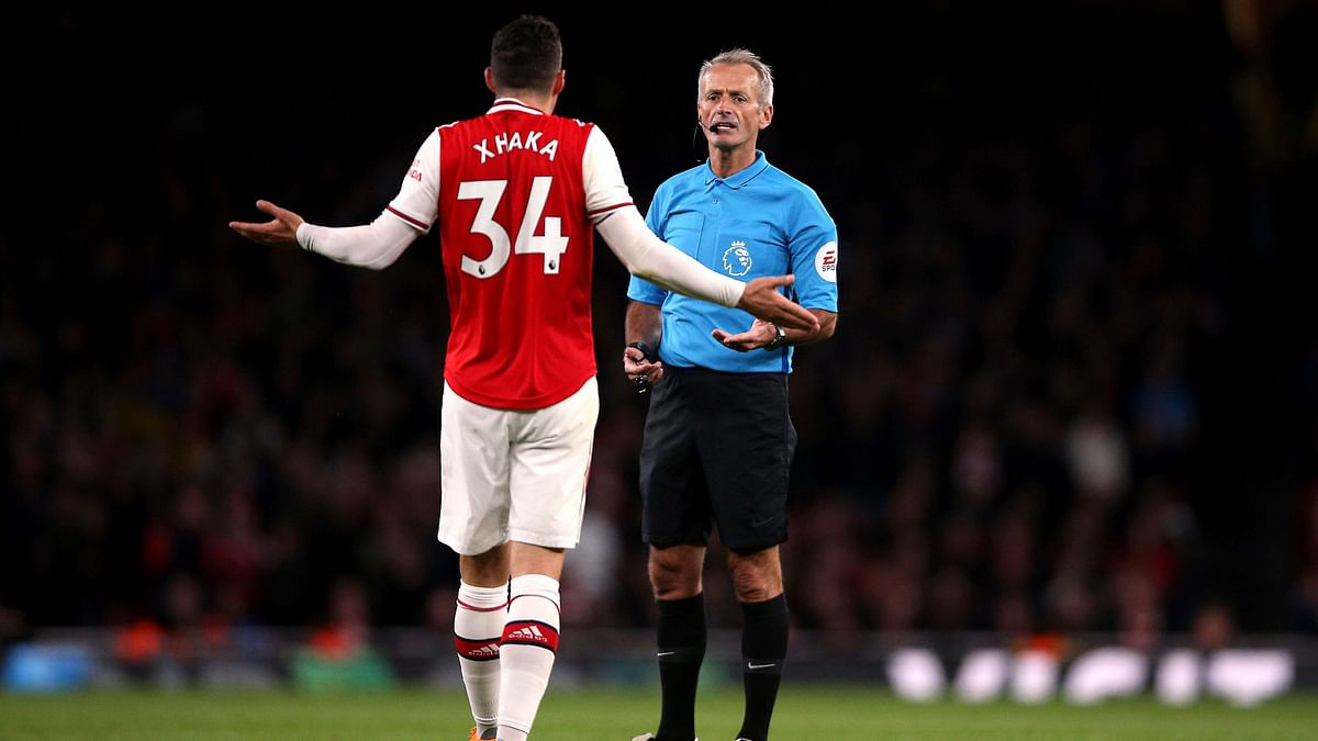 Xhaka's meltdown climaxed when he ripped off his shirt, appeared to insult the supporters and stormed past Emery straight down the tunnel.