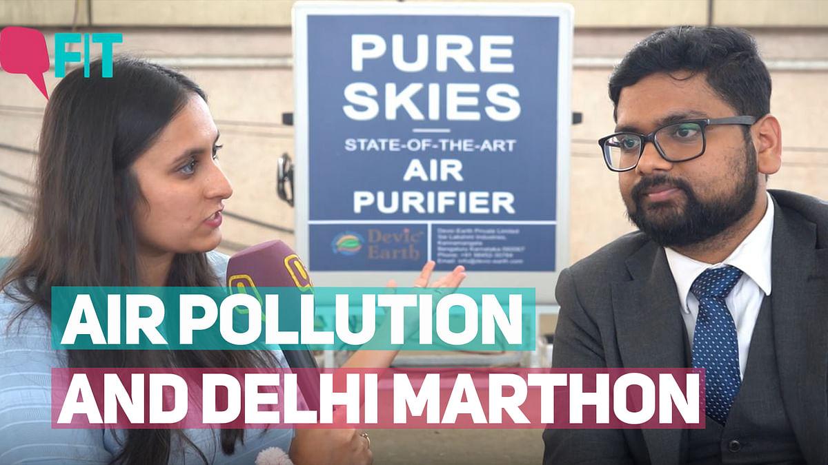 Can This Device Clean Delhi's Air Pollution Before the Marathon?