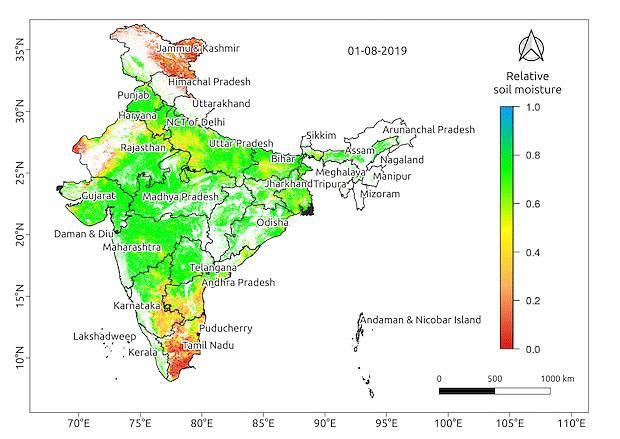 Soil moisture in August 2019.