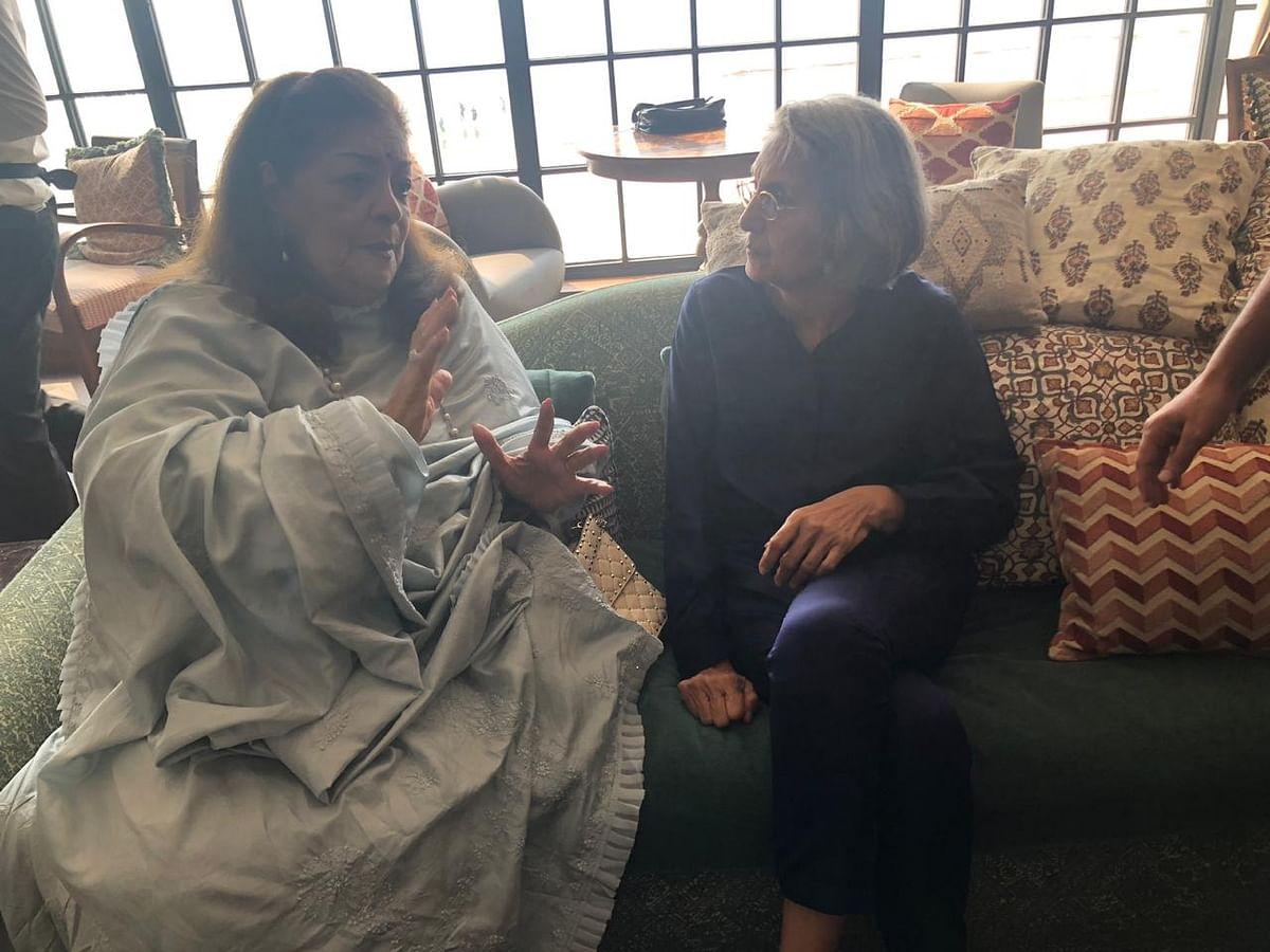 Ma Anand Sheela with Hiroo Johar.