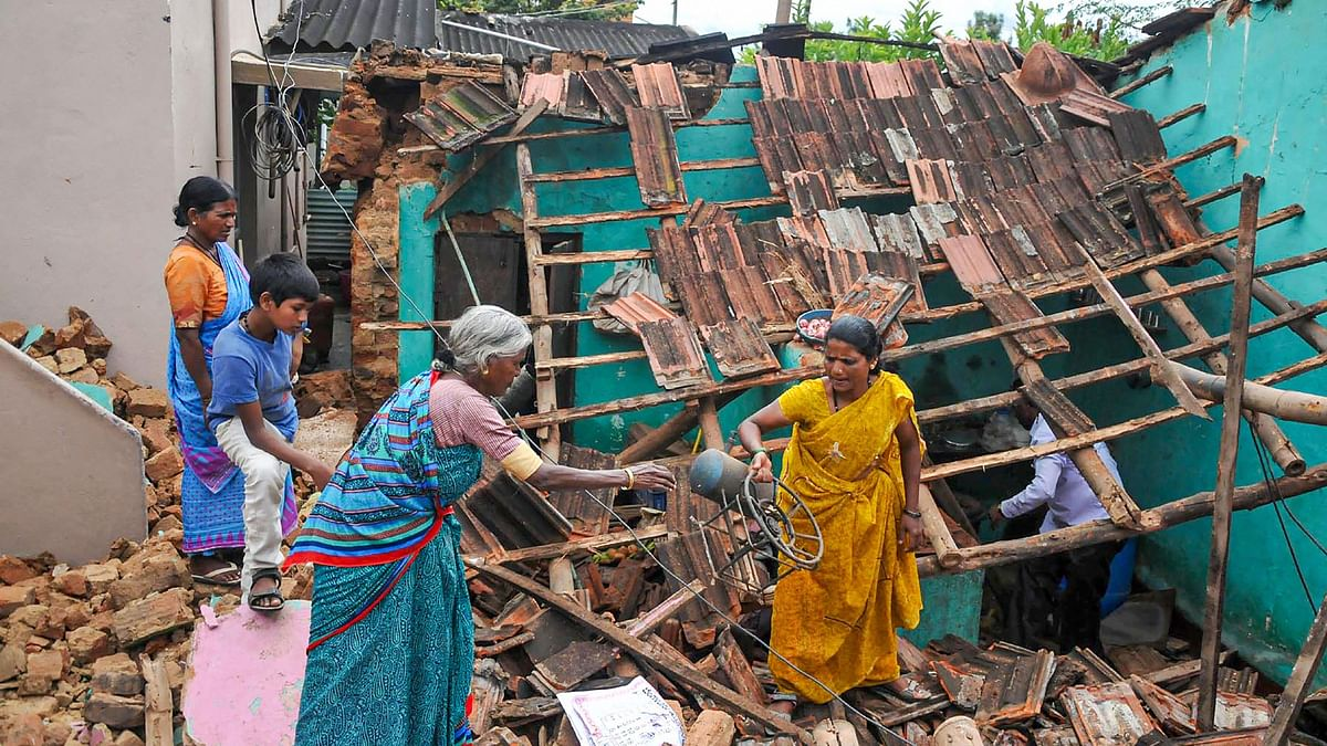 Temples Flood,  Roads Collapse After Heavy Rainfall in Karnataka