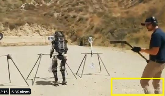 Armed Robot Training for War? No, the Video is Digitally Created