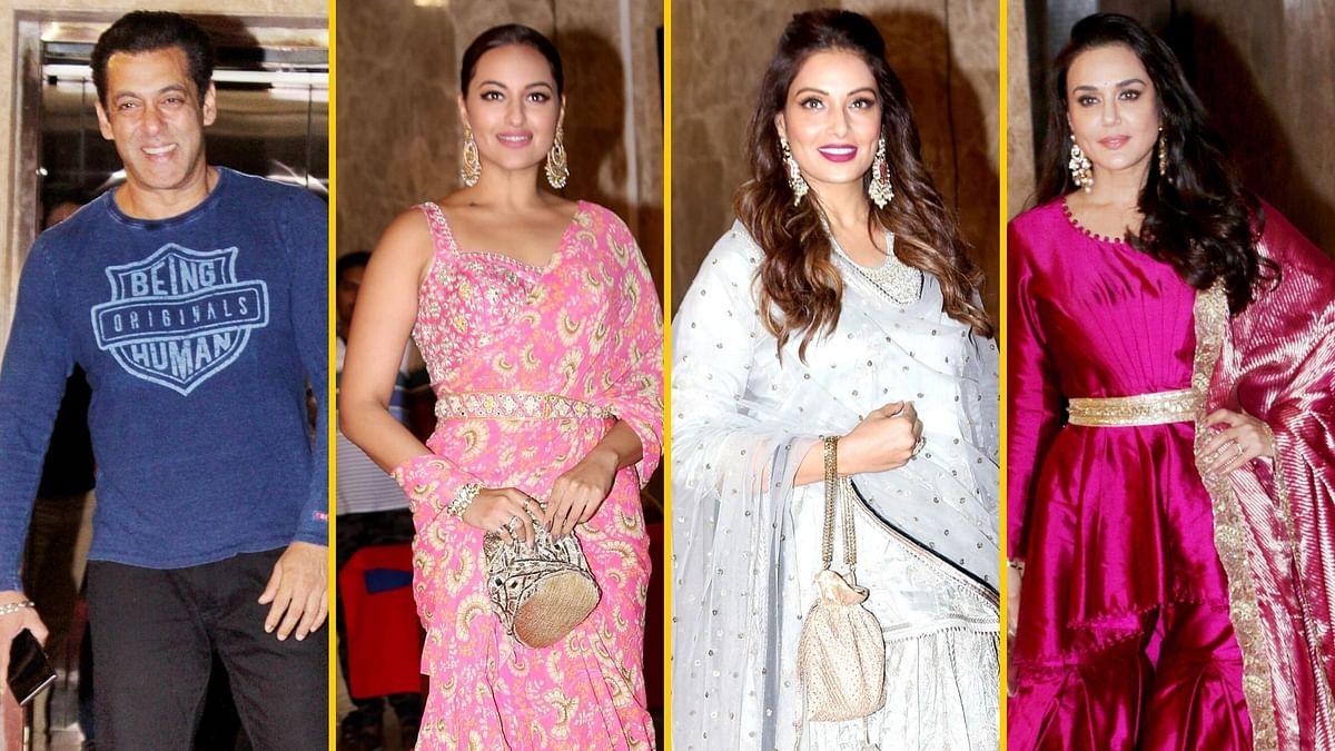 Pics: Salman, Sonakshi, Preity at Ramesh Taurani's Diwali Bash