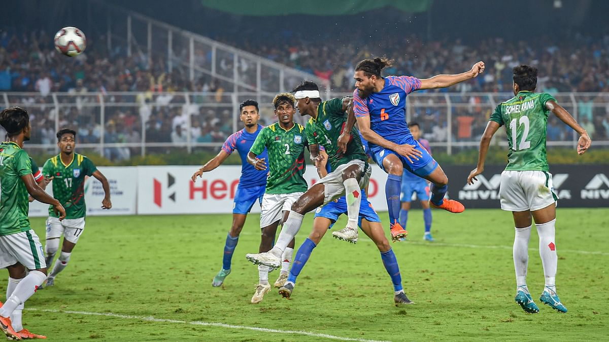 FIFA WC Qualifiers: Late Strike Helps India Draw 1-1 vs B'desh