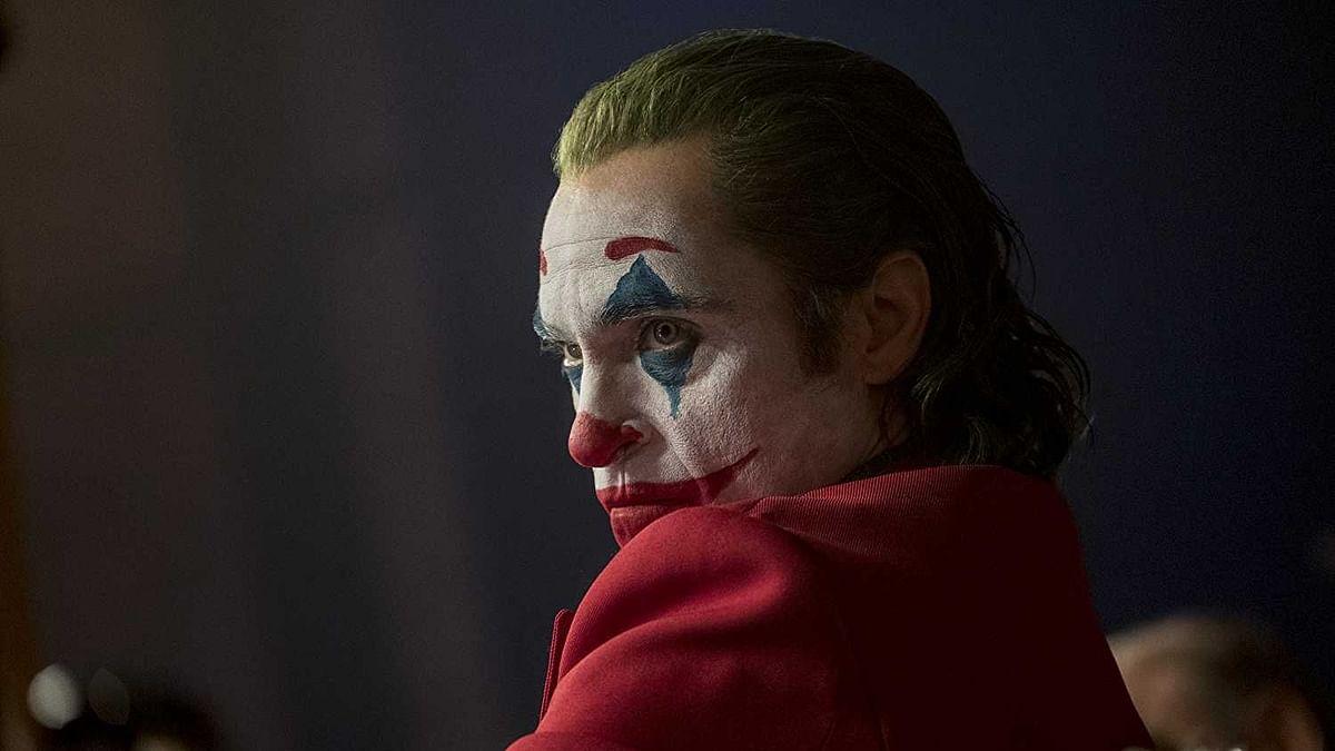 Joaquin Phoenix in a still from <i>Joker</i>.