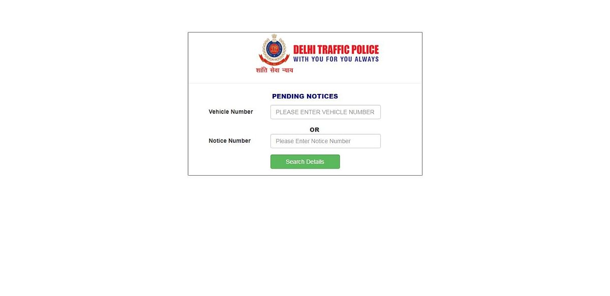 This is the website to pay your fines in Delhi.