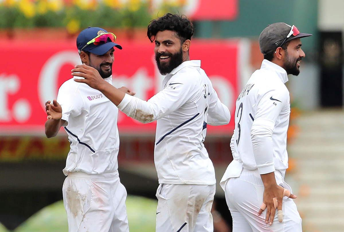 Debutant Shahbaz Nadeem had Bavuma (32) stumped for his first wicket in international cricket.